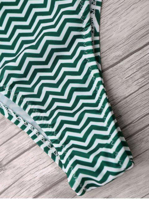 buy Zigzag Bikini Bottoms - BLACKISH GREEN S Mobile