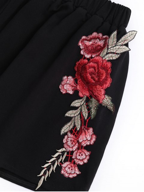 Applique Bowknot Top avec Shorts - Noir XL Mobile