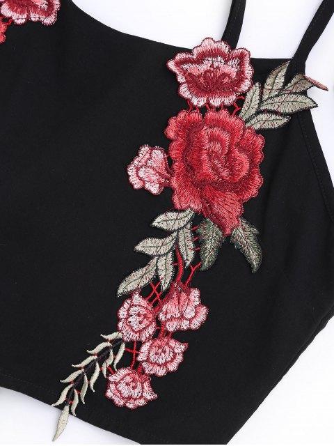 Applique Bowknot Top avec Shorts - Noir S Mobile