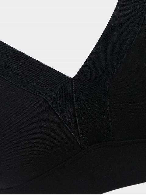 Soutien-gorge de sport rembourré croisé - Noir XL Mobile