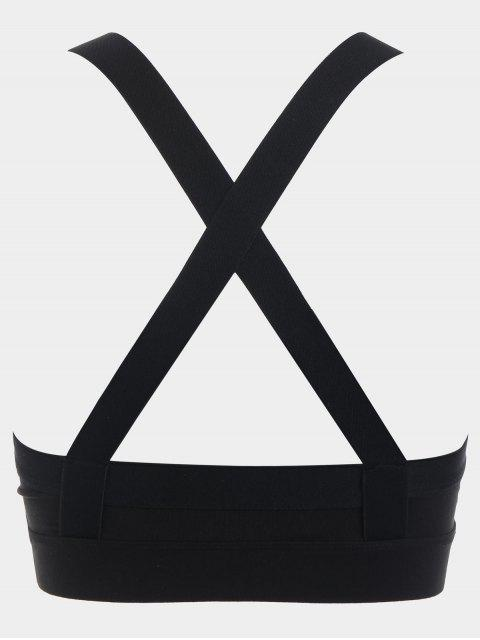 hot Criss-cross Padded Sports Bra - BLACK L Mobile