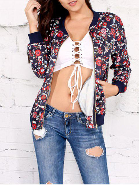 Veste florale Zipper Up - Bleu Cadette L Mobile