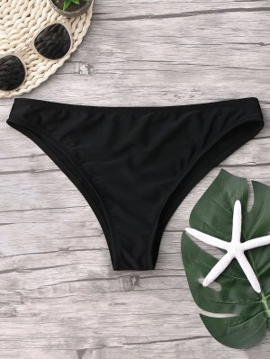 Cheeky Bikini Bottoms - Black M