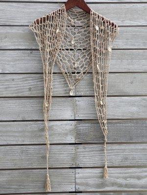 Sarong Crochet De Shell - Caqui