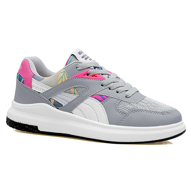 Color Block Mesh Running Athletic Shoes 220843709