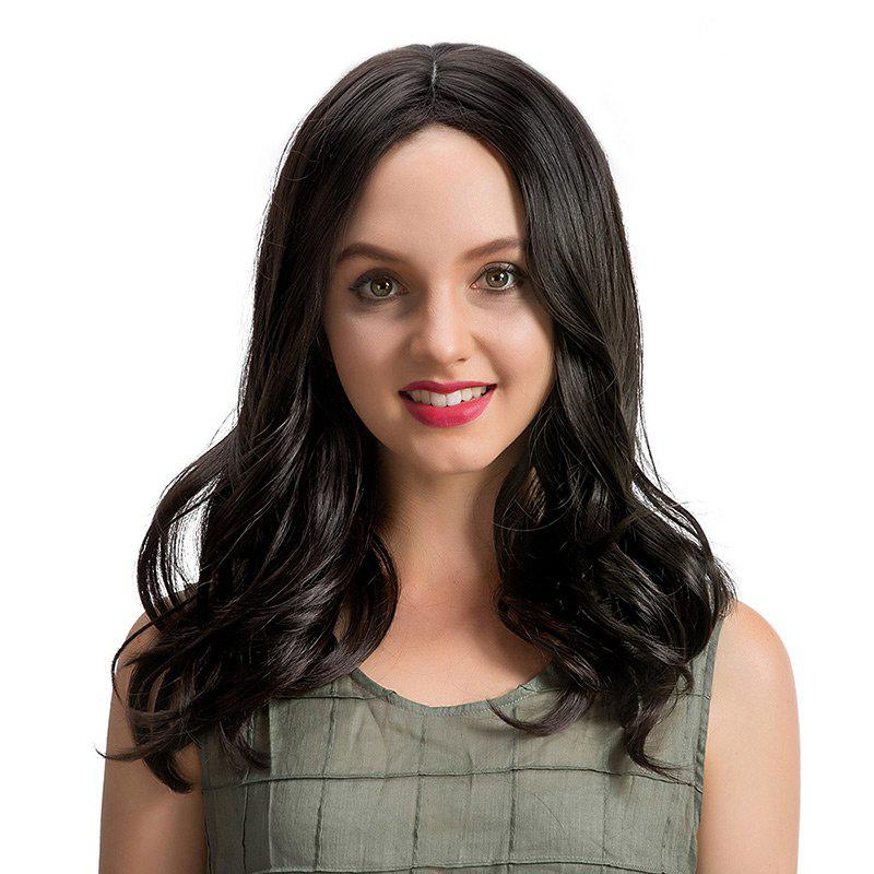 Medium Center Parting Wavy Synthetic Wig 221552001