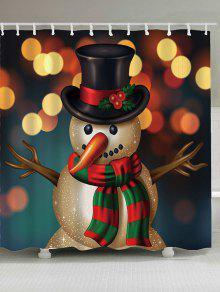 عيد الميلاد ثلج مطبوعة ماء دش الستار - W71 بوصة * L79 بوصة
