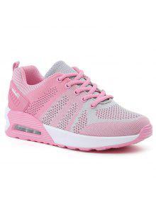 اللون كتلة تنفس وسادة الهواء الأحذية الرياضية - الوردي والرمادي 37