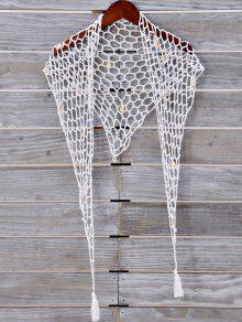 Shell Crochet Sarong - White