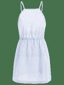 Abierto Azul Vestido Rayado Cami S De Claro 6tRB44