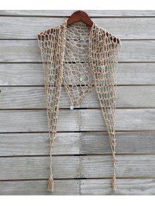 Sequin Crochet Sarong - Khaki