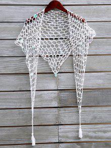Sequin Crochet Sarong - White