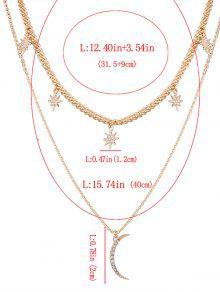 Rhinestone moon sun layered pendant necklace golden necklaces zaful rhinestone moon sun layered pendant necklace aloadofball Choice Image