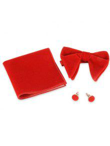 منديل بووتي كيفلنك ثلاث قطع البدلة - أحمر فاتح
