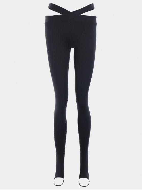 Jambières de yoga en bandage étoupe - Noir M