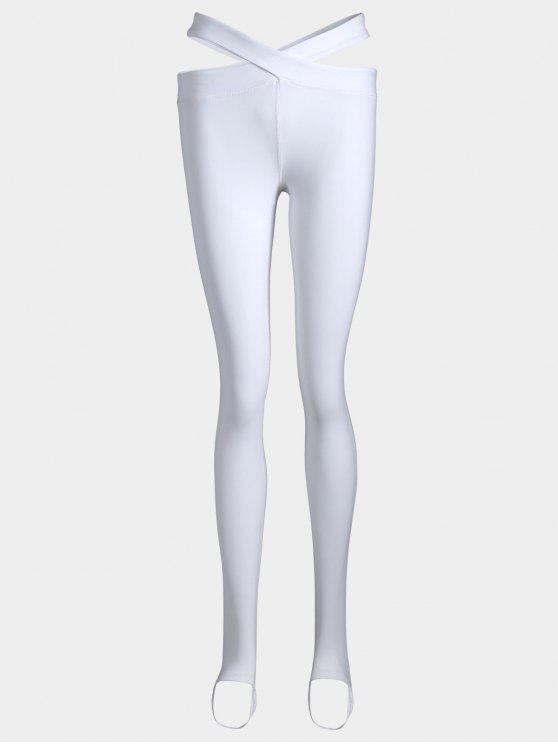 Jambières de yoga en bandage étoupe - Blanc L