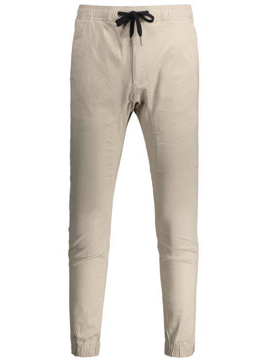 Pantaloni Da Jogging Casual A Cordoncino - Cachi Chiaro 34