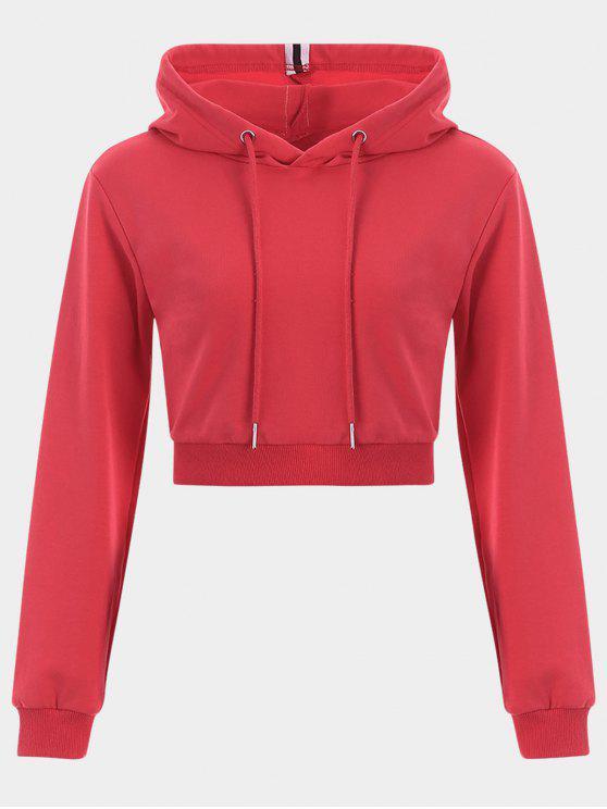 Sudadera con capucha Cropped Drawstring Sports - Rojo S