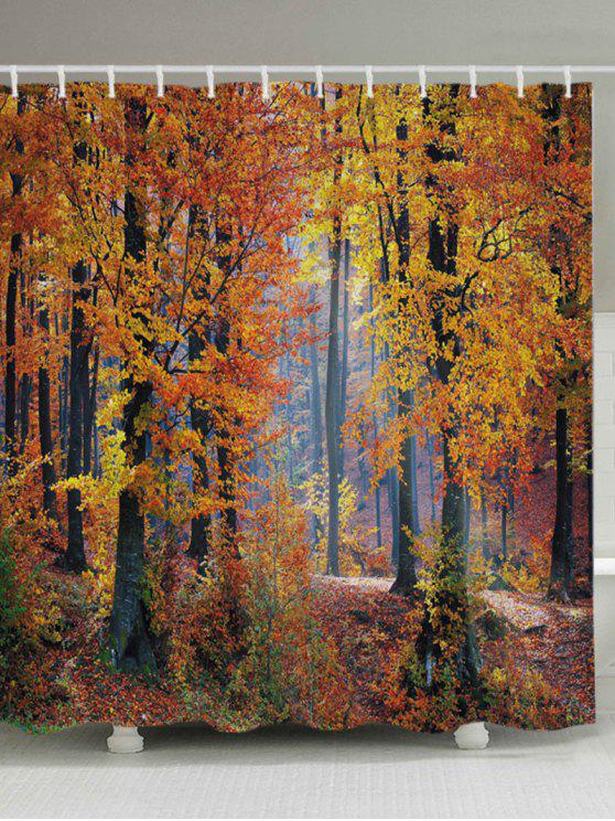 ستار للحمام بطبعة غابة القيقب - أشجار الحمضيات W59 بوصة * L71 بوصة