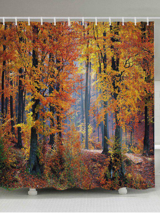 القيقب الغابات طباعة النسيج حمام دش الستار - أشجار الحمضيات W71 بوصة * L71 بوصة
