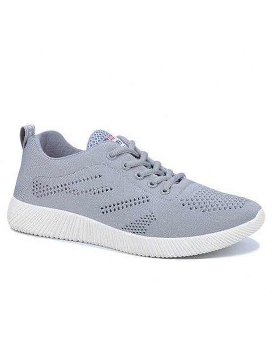 حذاء كاجوال قابل للتهوية بأربطة - اللون الرمادي 42