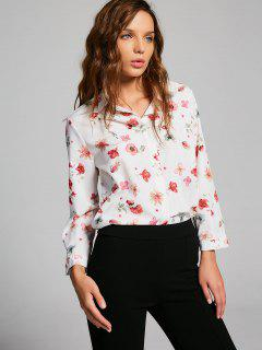 Button Down Fresh Floral Shirt - Floral L
