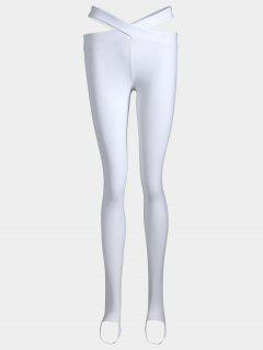 Stirrup Bandage Yoga Leggings - White S