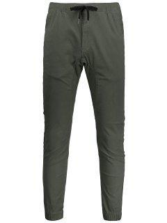 Pantalon Jogging Décontracté à Corodn De Serrage - Armée Verte 32