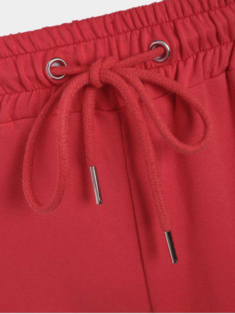 fashion Striped Drawstring Sports Pants - RED S Mobile