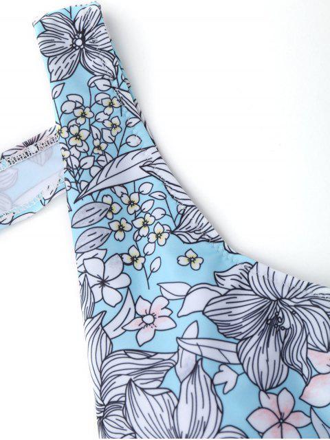 Maillot de Bain Une Pièce Floral à Col Plongeant - Floral S Mobile