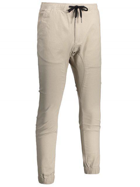 hot Casual Drawstring Jogger Pants - LIGHT KHAKI 38 Mobile