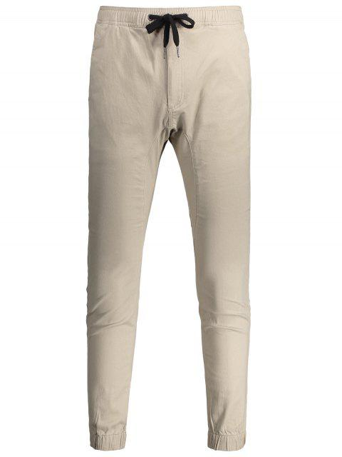 Casual Drawstring Jogger Pants - Kaki Clair 34 Mobile