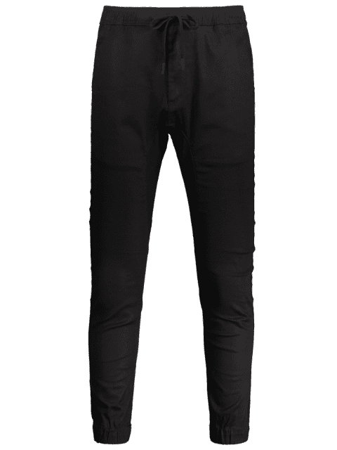 Casual Drawstring Jogger Pants - Noir 38 Mobile