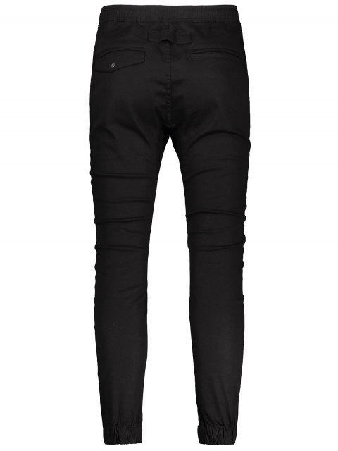 fashion Casual Drawstring Jogger Pants - BLACK 32 Mobile
