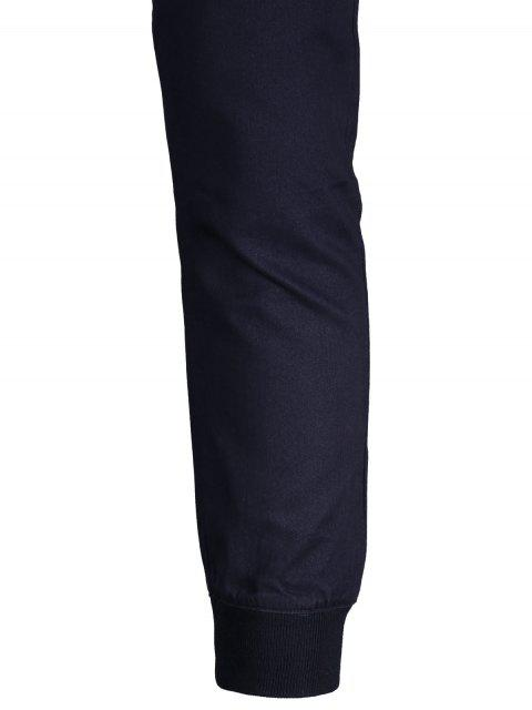 chic Men Casual Zip Fly Jogger Pants - PURPLISH BLUE 38 Mobile