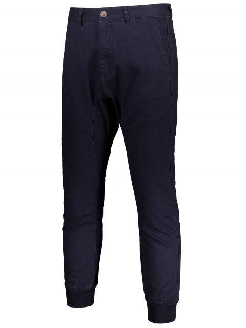 Hommes Casual Zip Fly Jogger Pants - Bleu Violet 34 Mobile