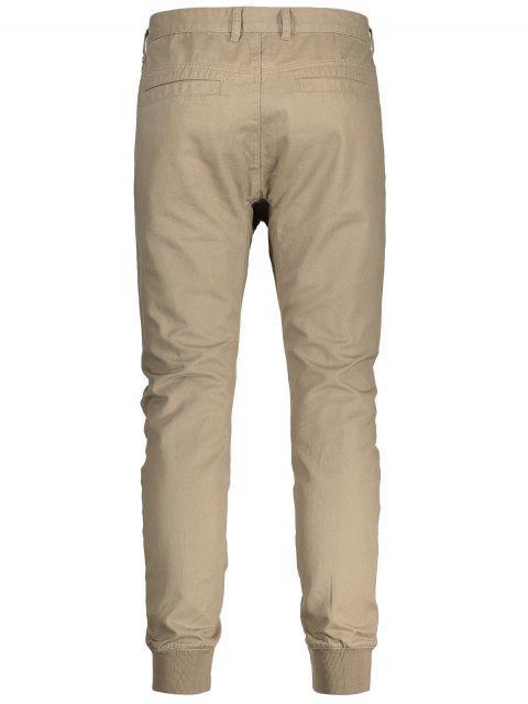 buy Men Casual Zip Fly Jogger Pants - LIGHT KHAKI 36 Mobile