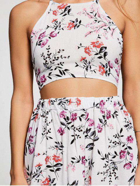 Ensemble culottes et shorts en satin floral - Floral L Mobile