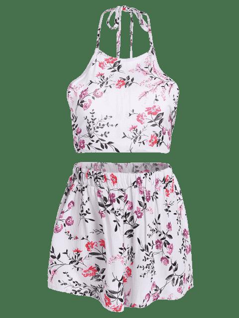Ensemble culottes et shorts en satin floral - Floral XL Mobile