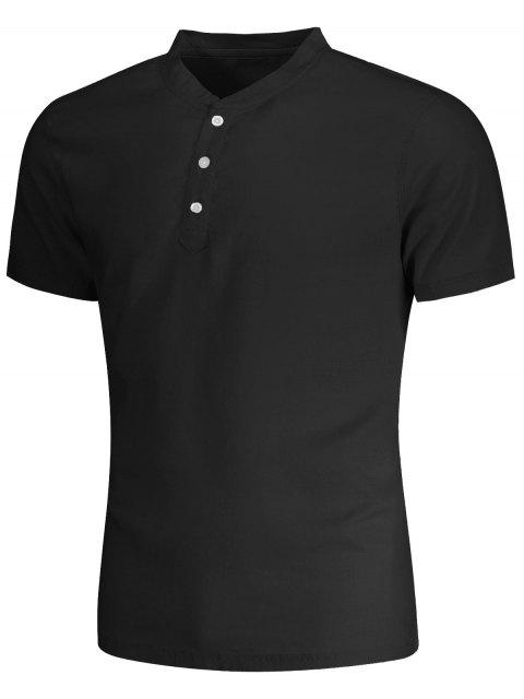 outfits Men Short Sleeve Polo Shirt - BLACK 3XL Mobile