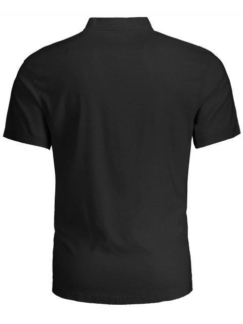 Polo homme à manches courtes - Noir 2XL Mobile