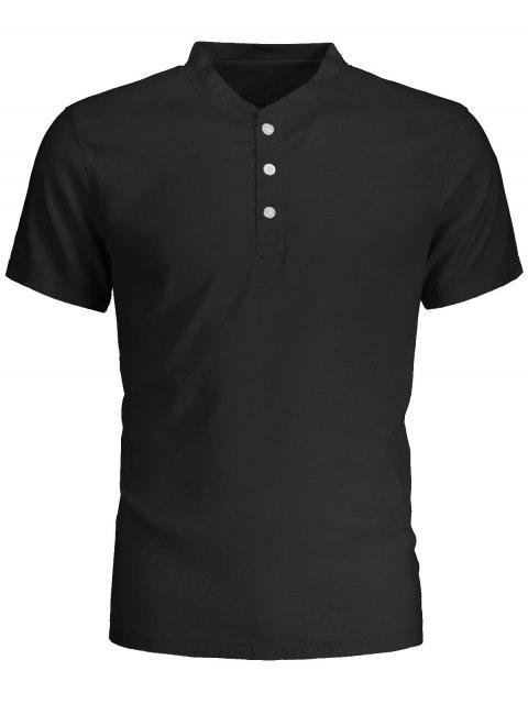 shop Men Short Sleeve Polo Shirt - BLACK 2XL Mobile
