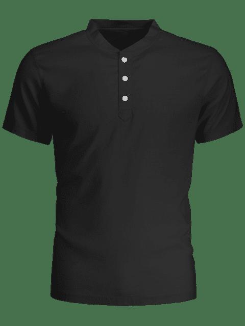 Polo homme à manches courtes - Noir L Mobile