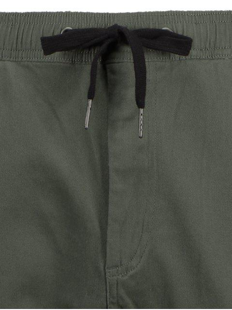 trendy Casual Drawstring Jogger Pants - ARMY GREEN 36 Mobile