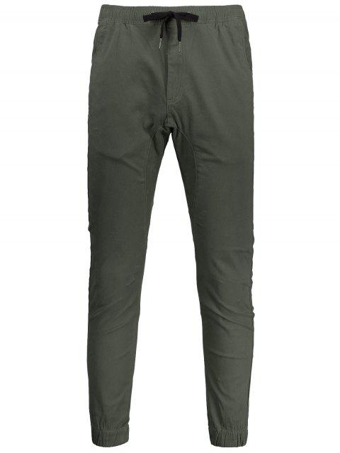 Casual Drawstring Jogger Pants - Vert Armée 34 Mobile