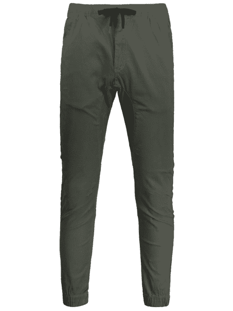 chic Casual Drawstring Jogger Pants - ARMY GREEN 32 Mobile