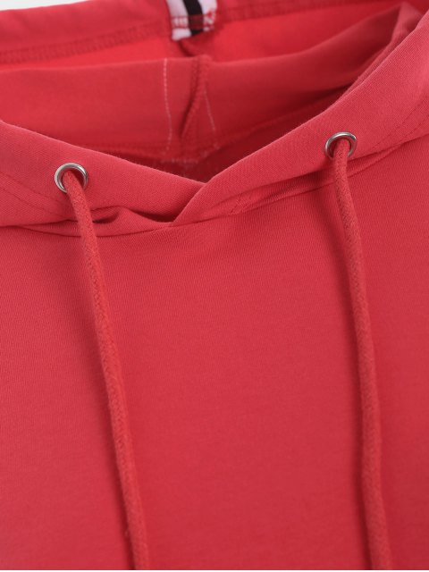 Sweat à capuche sport à manches courtes - Rouge M Mobile