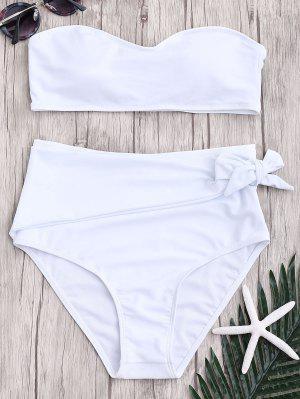 Conjunto De Bikini Anudado De Bikini Anudado De Cintura Alta - Blanco L
