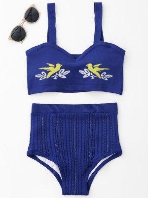 Jacquard Knit Bikini Set - Royal