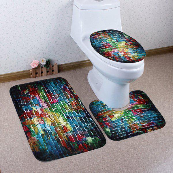 3Pcs Mousses de salle de bain de brosse éblouissante